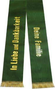 Trauerschleifen in jägergrün